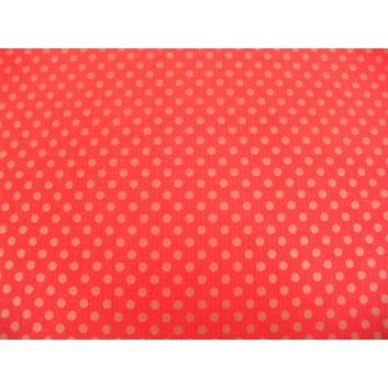 Geschenkpapier - Sonderpreis; 70 x 100 cm, gerollt; goldene Punkte auf rot; rot-gold; Offset, glatt; Bögen gerollt; Offsetpapier: Inhalt 25 Bögen