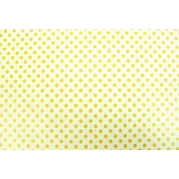 Geschenkpapier - Sonderpreis; 70 x 100 cm, gerollt; goldene Punkte auf creme; creme-gold; Offset, glatt; Bögen gerollt