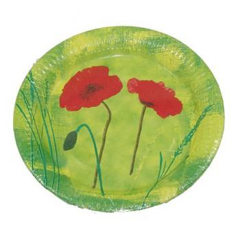 Pfiff-kuss Pappteller; Ø 23 cm; Red Flower; Hartpappe; rund