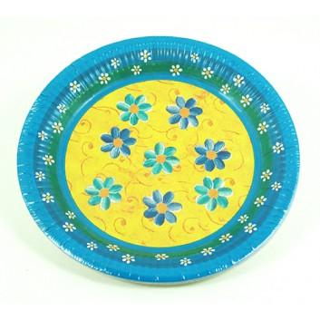 Pfiff-kuss Pappteller; Ø 23 cm; Fleur; bunt; Hartpappe; rund