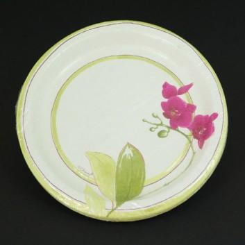Hosti-Pfiffkuss Pappteller; Ø 23 cm; Saigon summer; bunt auf weiß; Hartpappe; rund