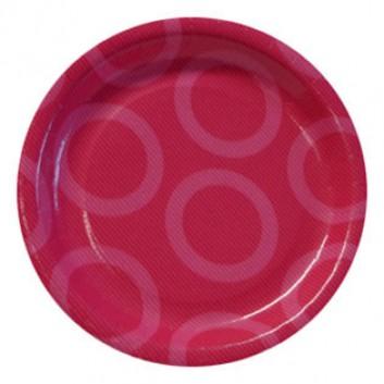 Paper + Design Pappteller; Ø 23 cm; Circle; pink; Hartpappe; rund