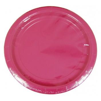 Riethmüller Pappteller; Ø 23 cm; uni; pink; Hartpappe; rund