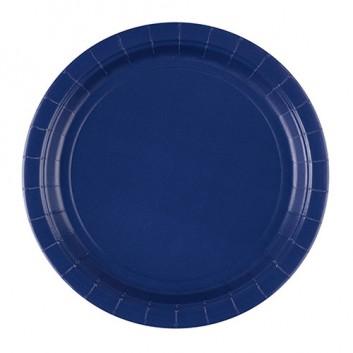 Riethmüller Pappteller; Ø 22,8 cm; uni; dunkelblau; Hartpappe; rund