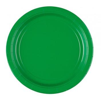 Riethmüller Pappteller; Ø 22,8 cm; uni; dunkelgrün; Hartpappe; rund