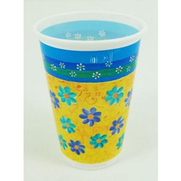 Pfiff-kuss Plastikbecher; 200 ml; Fleur; bunt; Plastik