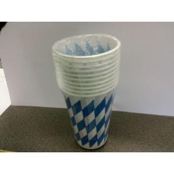 Pfiff-kuss Plastikbecher; 200 ml; Raute; weiß-blau; Plastik