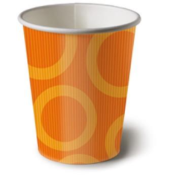 Paper + Design Pappbecher; 200 ml; Circle - viele Farben; viele Farben; Hartpappe