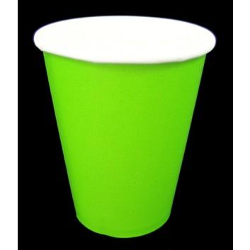 amscan Pappbecher; 200 ml; uni; hellgrün; Hartpappe spezialbeschichtet; Gesamtfüllvolumen: 266 ml
