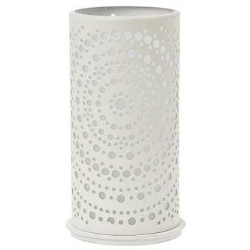 Duni Windlicht/Kerzenhalter rund; Billy; weiß; rund, 75 x 140 mm; Metall; für Maxi-Teelichter oder LED