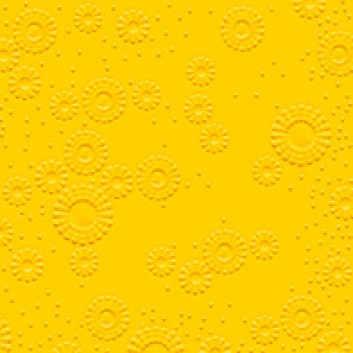 Cocktail-Servietten mit Strukturprägung; 25 x 25 cm; Moments: Blütenprägung uni; gelb; 14012; 3-lagig, geprägt; 1/4-Falz (quadratisch); Zelltuch
