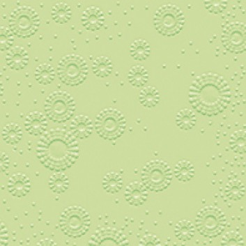 Cocktail-Servietten mit Strukturprägung; 25 x 25 cm; Moments: Blütenprägung uni; mintgrün; 14039; 3-lagig, geprägt; 1/4-Falz (quadratisch)
