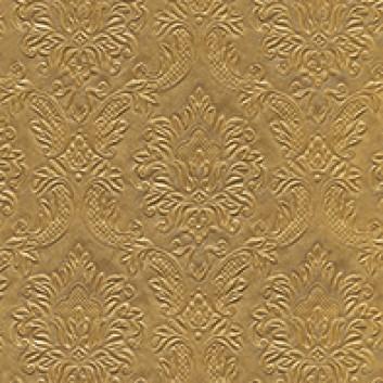 Paper + Design Servietten mit Strukturprägung; 33 x 33 cm; Moments: Ornament gold; gold; 24046; 3-lagig, geprägt; 1/4-Falz (quadratisch); Zelltuch