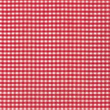 Paper + Design Cocktail-Servietten, Vichy; 25 x 25 cm; Vichy red; rot; 10973; 3-lagig; 1/4-Falz (quadratisch); Zelltuch