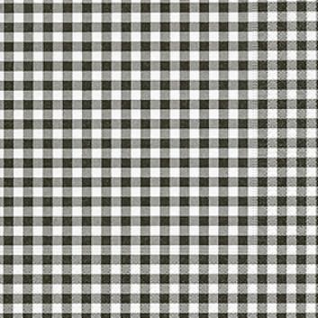 Paper + Design Servietten, Vichy; 33 x 33 cm; Vichy-New black; schwarz; 200710; 3-lagig; 1/4-Falz (quadratisch); Zelltuch (Tissue)