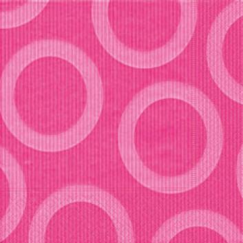 Paper + Design Servietten, Circle; 33 x 33 cm; Circle pink; pink; 28203; 3-lagig; 1/4-Falz (quadratisch); Zelltuch