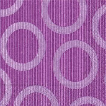 Paper + Design Servietten, Circle; 33 x 33 cm; Circle lilac; violett; 28216; 3-lagig; 1/4-Falz (quadratisch); Zelltuch