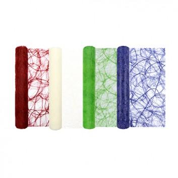 HomeFashion Tischläufer / Dekovlies Swirly; 30 x 500 cm; uni; verschiedene Farben; Vlies, durchbrochen;  wasserfest, reißfe; Breite x Länge