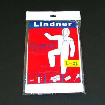 Lindner Maleroverall mit Kapuze; L-XL; weiß; Schutz für Maler und Handwerker; mit Gummiband und Reißverschluß