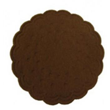 Duni Tassendeckchen; 7,5 cm; uni; cafe; Zelltuch, 9-lagig; Durchmesser