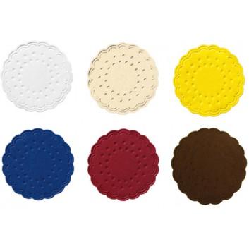Duni Tassendeckchen; 7,5 cm; uni; viele Farben; Zelltuch, 9-lagig; Durchmesser