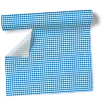 Paper + Design Tischläufer, 3 in 1; 40 x 360 cm; Vichy  /  # 95169; blau; Airlaid; alle 30 cm perforiert