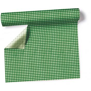 Paper + Design Tischläufer, 3 in 1; 40 x 360 cm; Vichy  /  # 95218; forest green; Airlaid; alle 30 cm perforiert
