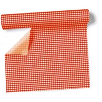 Paper + Design Tischläufer, 3 in 1; 40 x 360 cm; Vichy  /  # 95168; rot; Airlaid; alle 30 cm perforiert
