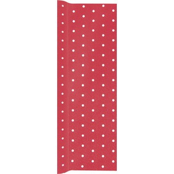 HomeFashion Tischläufer; 40 x 490 cm; Mini Dots rot: Punkte; weiße Punkte auf rot; 0200-1452; Airlaid; Breite x Länge