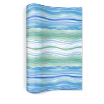 Paper + Design Tischläufer; 25 x 400 cm; Blue Waves; Blautöne; 980026; Vlies: hochwertige,textilartige Qualität; nicht perforiert