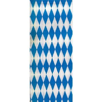 Geschenkpapier; 70 cm x 2 m; bayerisch Raute; weiß-blau; Offset-glatt; Röllchen