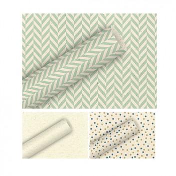 Braun & Company Graspapier-Geschenkpapier; 70 cm x 2 m; verschiedene ausgewählte Motive; verschiedene Farben; Offset-glatt; Röllchen