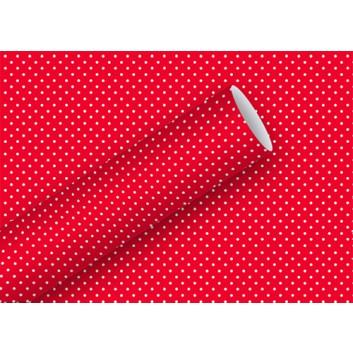 Braun & Company Geschenkpapier, lux; 70 cm x 2 m; Lulu: Pünktchen; rot mit weißen Pünktchen; 12443; Offsetpapier, glatt