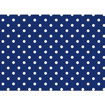 Braun & Company Geschenkpapier, lux; 70 cm x 2 m; Punkte; weiß auf blau; 17430; Offsetpapier, glatt; Röllchen auf Papphülse (34 mm Ø); ca. 80 g/qm