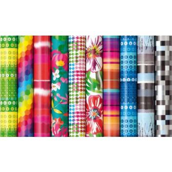 Geschenkpapier, Premium; 70 cm x 2 m; Jahresmotive, sortiert; verschiedene Motive / Farben, sortiert; Offset-glatt; Röllchen