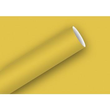 Braun & Company Geschenkpapier, uni-Einzelrollen; 70 cm x 2 m; uni; gold; 10610; Kraftpapier glatt, Rückseite weiß