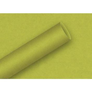 Braun & Company Geschenkpapier, uni-Einzelrollen; 70 cm x 2 m; uni-durchgefärbt, enggerippt; 6900 = anis: hellgrün; 6900