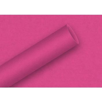 Braun & Company Geschenkpapier, uni-Einzelrollen; 70 cm x 2 m; uni-durchgefärbt, enggerippt; 6906 = pink; 6906