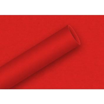Braun & Company Geschenkpapier, uni-Einzelrollen; 70 cm x 2 m; uni-durchgefärbt, enggerippt; 6907 = rot; 6907
