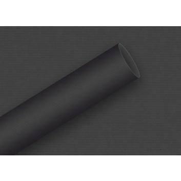 Braun & Company Geschenkpapier, uni-Einzelrollen; 70 cm x 2 m; uni-durchgefärbt, enggerippt; 6908 = schwarz; 6908