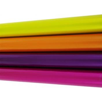 Geschenkfolie; 70 cm x 2,5 m; uni, transparent; violett; Folie; Röllchen