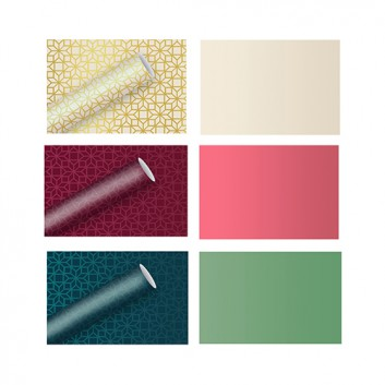 Braun & Company Geschenkpapier, seidenmetallic; 70 cm x 1,5 m; uni - seidenmetallic brillant; verschiedene Farben