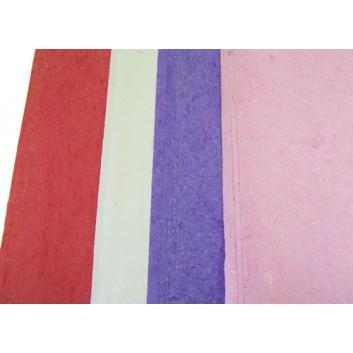 Silkpapier / Strohseide; 56 x 76 cm; uni, durchgefärbt; weiß/altrosa/lila/pastellrosa; Silk; Einzelbogen; weiches, außergewöhnliches Material