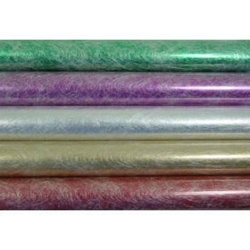 Geschenkfolie; 70 cm x 1,5 m; Strukturgewebe, uni - Variante: Elixir; Auslauf: Restfarben - lila + rot; Papier mit Gewebe; Röllchen