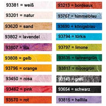 Pulsar Strohseide; 70 cm x 1,5 m; uni, durchgefärbt; viele Farben; Strohseide; Röllchen; ca. 25 g/qm