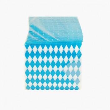 Servietten; 33 x 33 cm; Bayerisch Raute; weiß-blau; 1-lagig; 1/4-Falz (quadratisch); Zelltuch