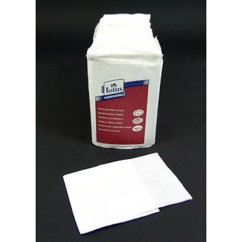 Servietten für Spender #251450; 25 x 30,5 cm; uni; weiß; 1-lagig; Spenderfalz