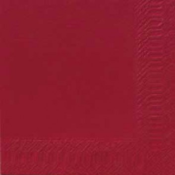 Duni Servietten; 40 x 40 cm; uni; bordeaux; 3-lagig; 1/4-Falz (quadratisch); Zelltuch, Soft-Tissue