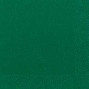 Duni Servietten; 40 x 40 cm; uni; jägergrün; 3-lagig; 1/4-Falz (quadratisch); Zelltuch, Soft-Tissue