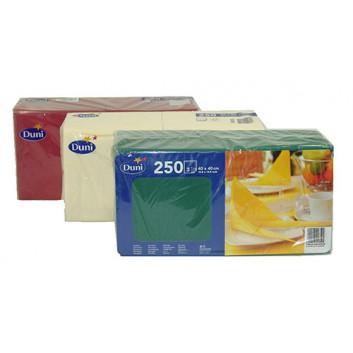 Duni Servietten 3-lagig; 40 x 40 cm; uni; uni in vielen Farben; 3-lagig; 1/4-Falz (quadratisch); Zelltuch, Soft-Tissue